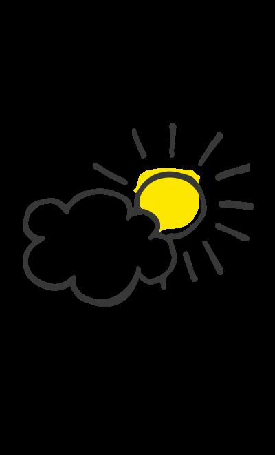 Soleil & nuages: j'suis là, 'suis pas là
